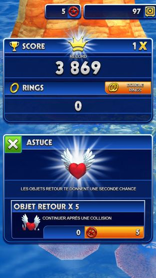 Test Sonic Dash iPhone/iPod - Screenshot 14