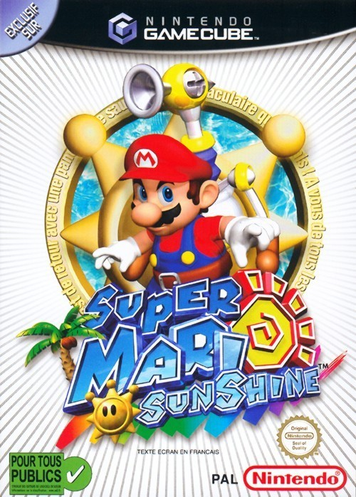 super mario sunshine sur gamecube. Black Bedroom Furniture Sets. Home Design Ideas