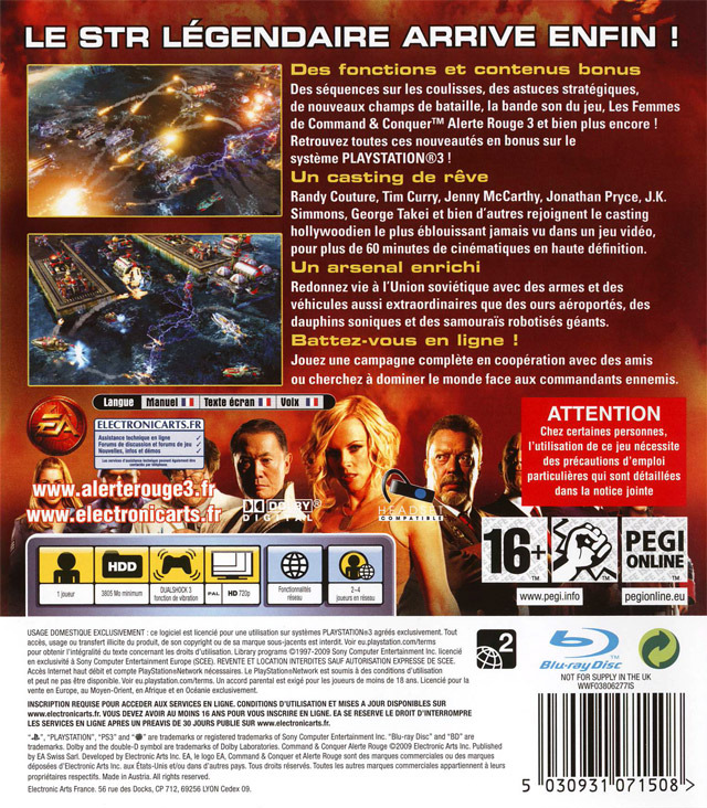 Command & Conquer : Alerte Rouge 3 : Ultimate Edition PlayStation 3