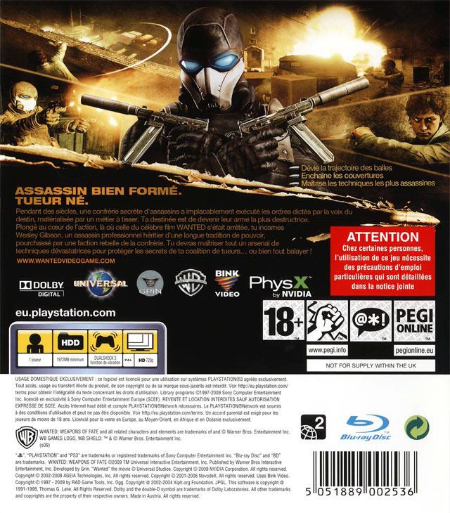 jeuxvideo.com Wanted : Les Armes du Destin - PlayStation 3 Image 2 sur