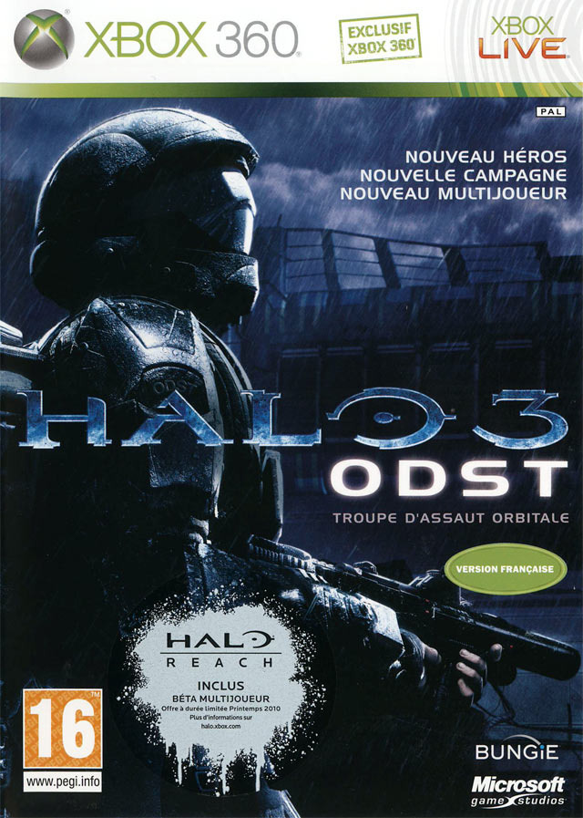 halo 3 odst sur xbox 360. Black Bedroom Furniture Sets. Home Design Ideas