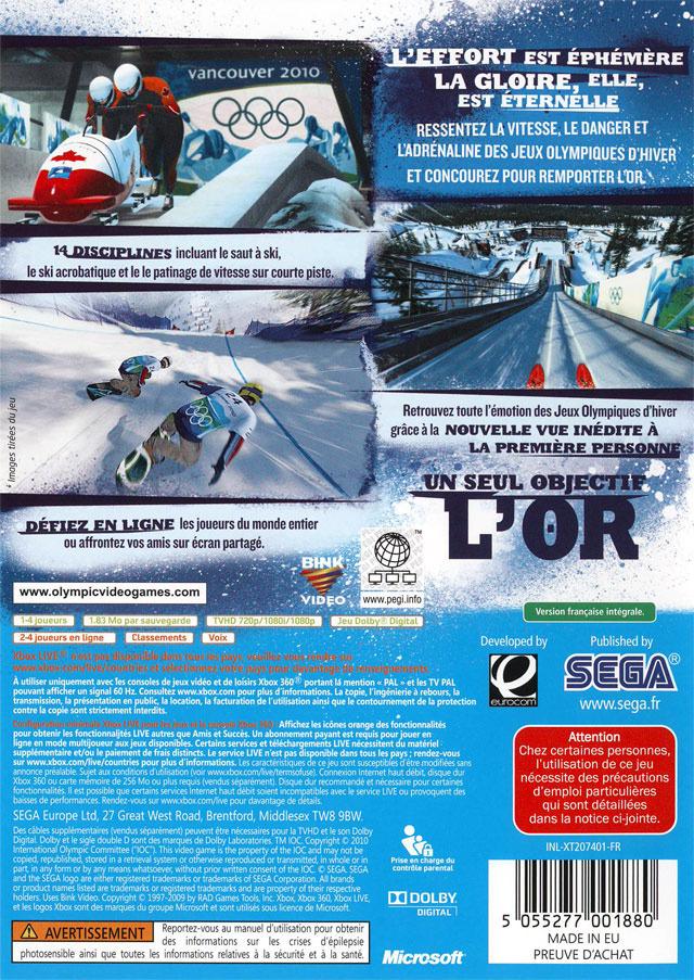 Vancouver 2010 : Le Jeu Vidéo Officiel des Jeux Olympiques - Xbox 360