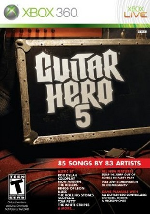 jaquette guitar hero 5 xbox 360 cover avant g Guitar Hero 5 PAL iNT XBOX360