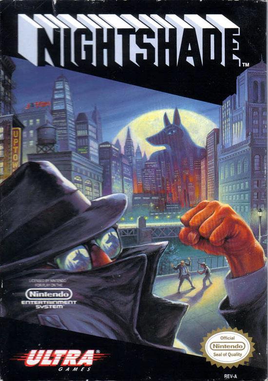 """Les jeux d'aventure (dont les """"point'n click"""" et les """"Visual Novel"""")  Jaquette-nightshade-nes-cover-avant-g"""
