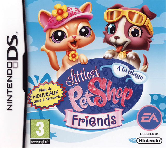 littlest pet shop friends a la plage sur nintendo ds. Black Bedroom Furniture Sets. Home Design Ideas