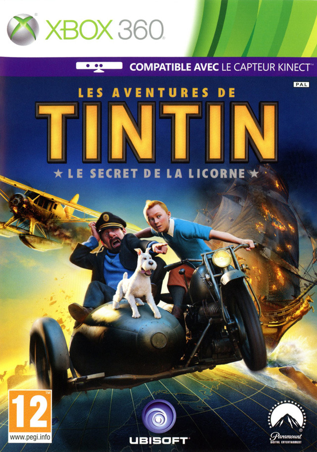 les aventures de tintin le secret de la licorne sur xbox. Black Bedroom Furniture Sets. Home Design Ideas