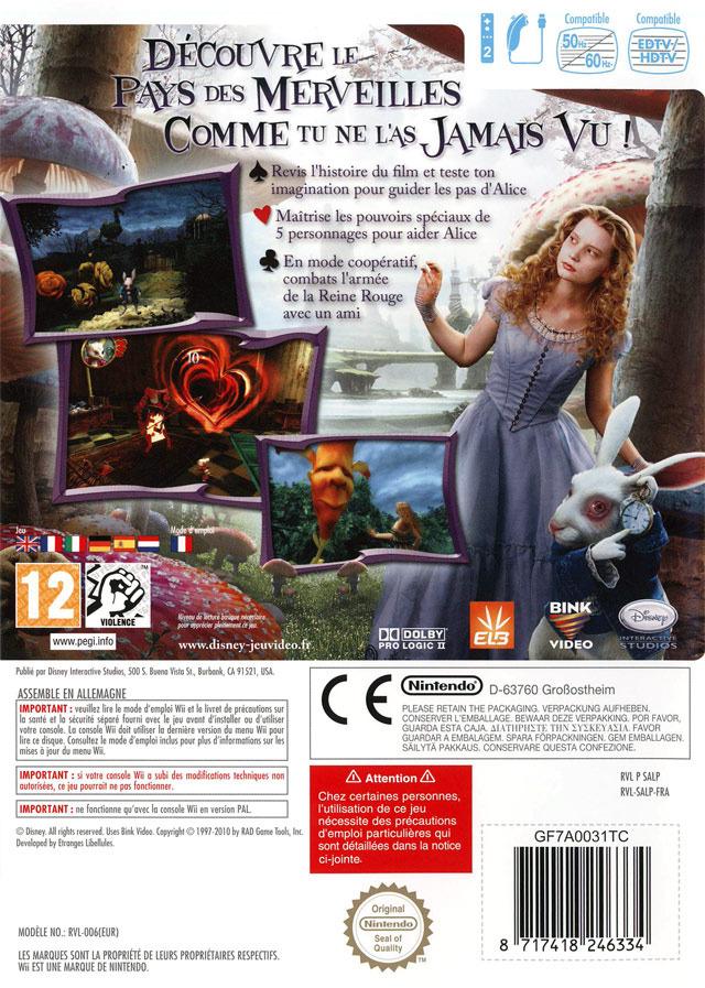 Jeuxvideo.com alice au pays des merveilles - wii image 2 sur 171