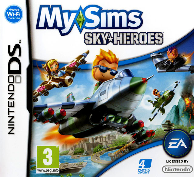 mysims skyheroes sur nintendo ds. Black Bedroom Furniture Sets. Home Design Ideas