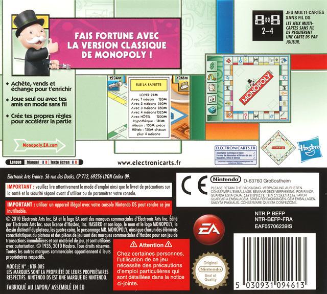 jeuxvideo.com Monopoly - Nintendo DS Image 2 sur 27