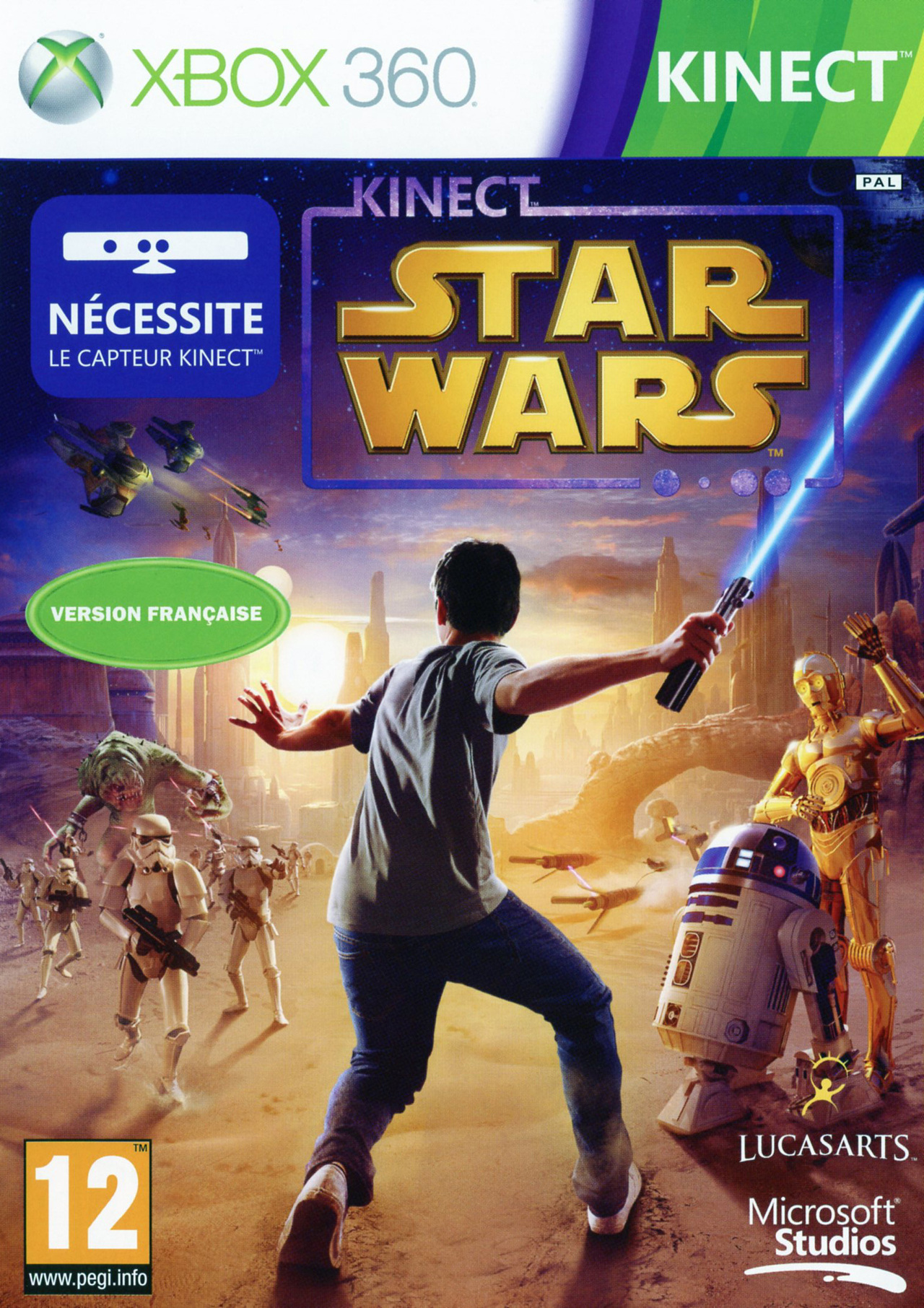 Xbox Edition Star Wars Jaquette Kinect Star Wars Xbox Cover Avant G