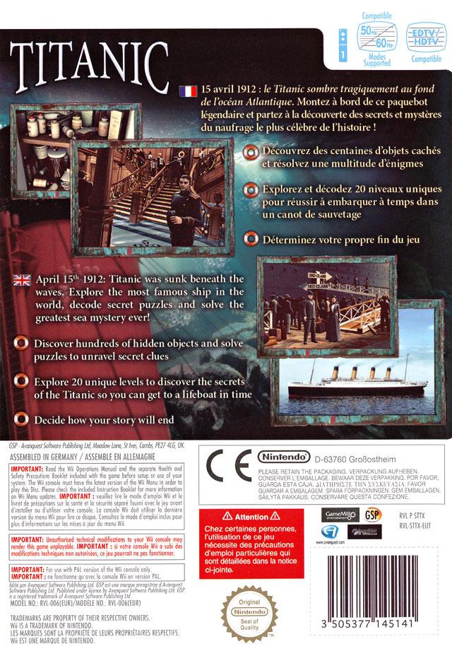 jeuxvideo.com Hidden Mysteries : Titanic - Wii Image 2 sur 93