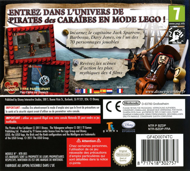 jeuxvideo.com LEGO Pirates des Caraïbes : Le Jeu Vidéo - Nintendo DS