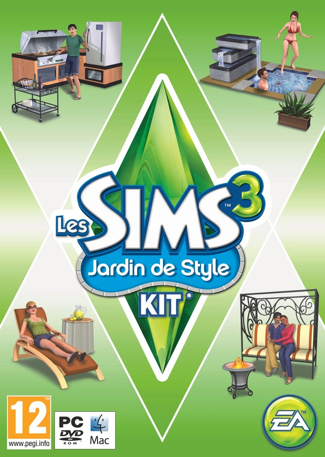 les sims 3 jardin de style kit sur pc. Black Bedroom Furniture Sets. Home Design Ideas