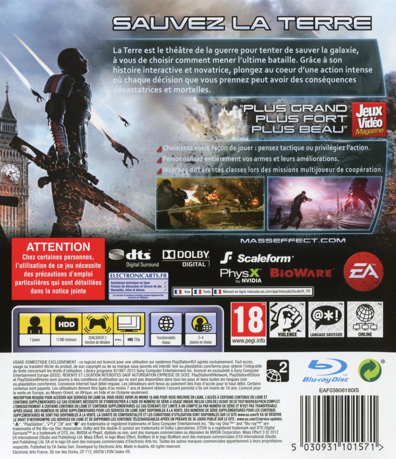 jeuxvideo.com Mass Effect 3 - PlayStation 3 Image 2 sur 230