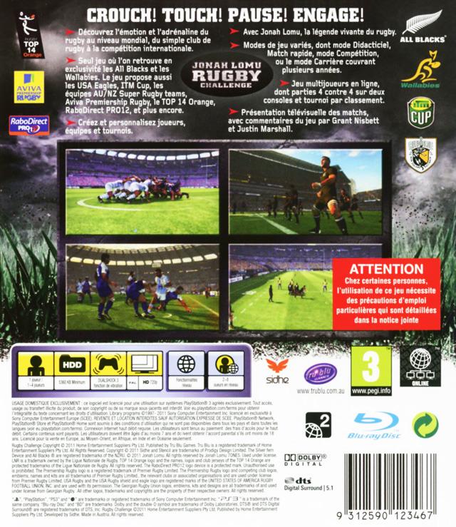 jeuxvideo.com Jonah Lomu Rugby Challenge - PlayStation 3 Image 2 sur