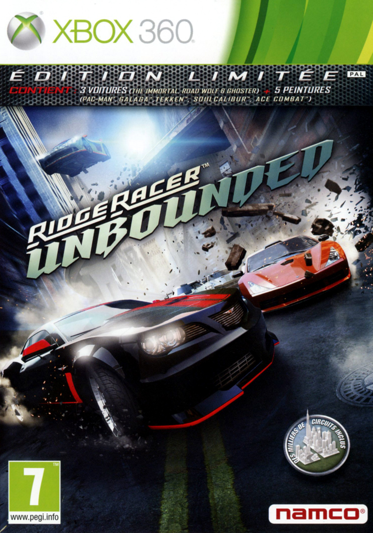 ridge racer unbounded sur xbox 360. Black Bedroom Furniture Sets. Home Design Ideas