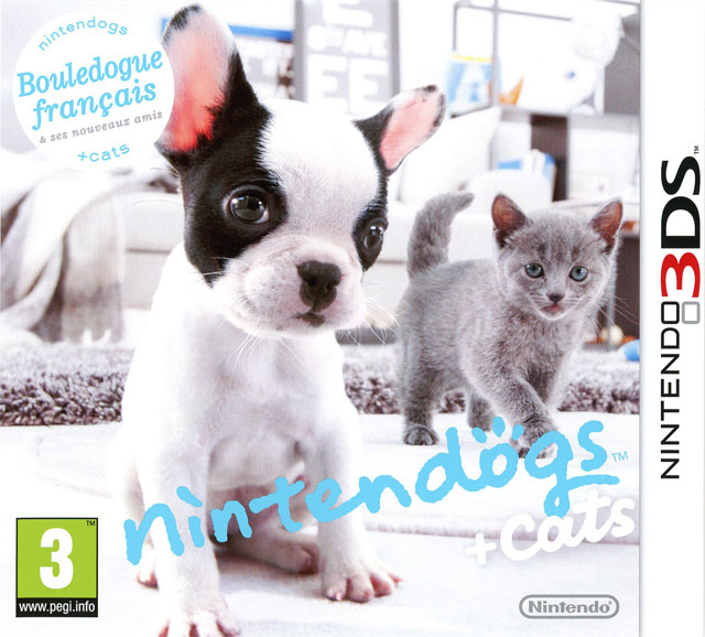 nintendogs cats bouledogue fran ais ses nouveaux amis sur nintendo 3ds. Black Bedroom Furniture Sets. Home Design Ideas