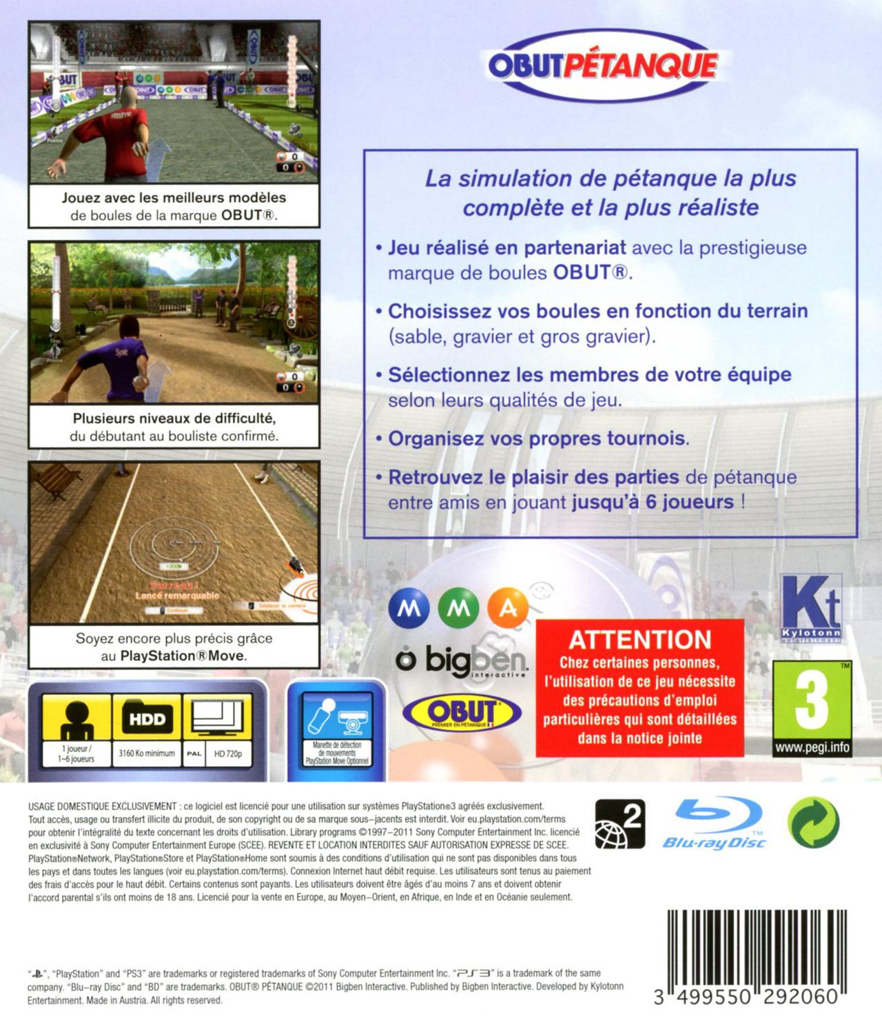 jeuxvideo.com Obut Pétanque - PlayStation 3 Image 2 sur 58