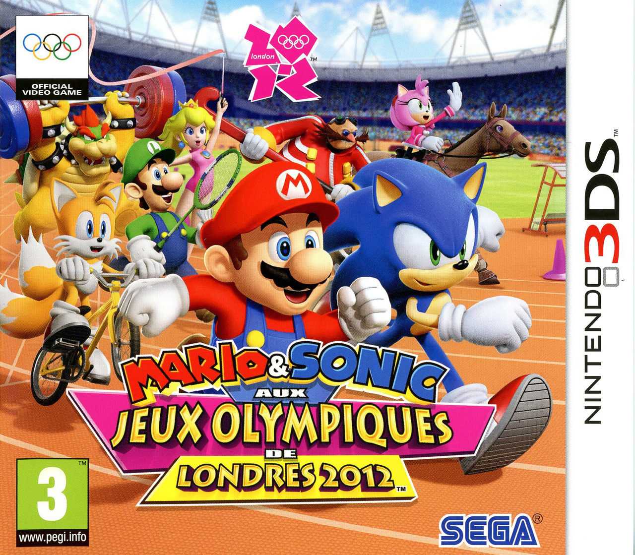 mario sonic aux jeux olympiques de londres 2012 sur nintendo 3ds. Black Bedroom Furniture Sets. Home Design Ideas