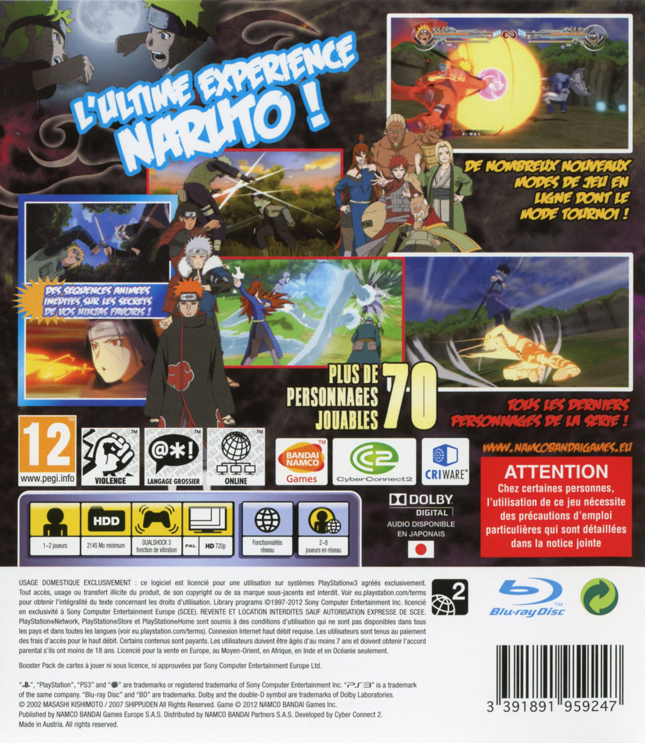 Naruto Shippuden : Ultimate Ninja Storm Generations PlayStation 3 - 2