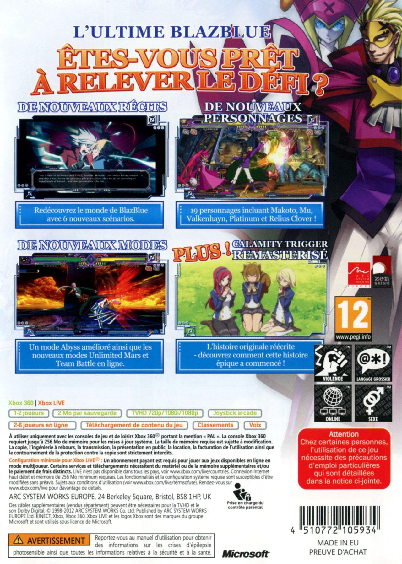 jeuxvideo.com BlazBlue : Continuum Shift Extend - Xbox 360 Image 2 sur