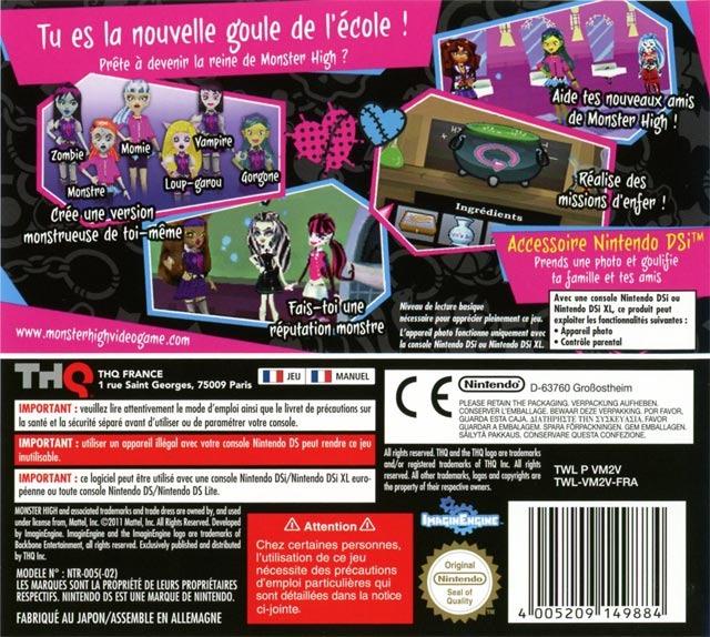 jeuxvideo.com Monster High : Lycée d'Enfer - Nintendo DS Image 2 sur