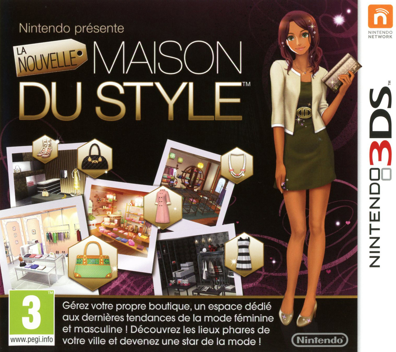 la nouvelle maison du style sur nintendo 3ds. Black Bedroom Furniture Sets. Home Design Ideas