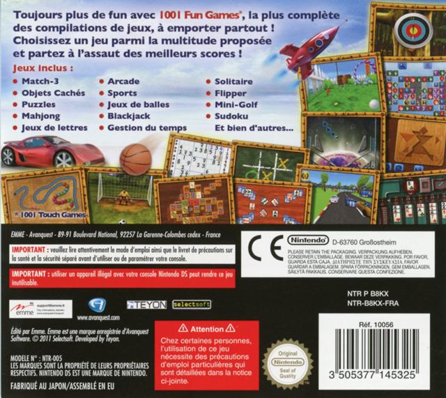 jeuxvideo.com 1001 Fun Games - Nintendo DS Image 2 sur 30
