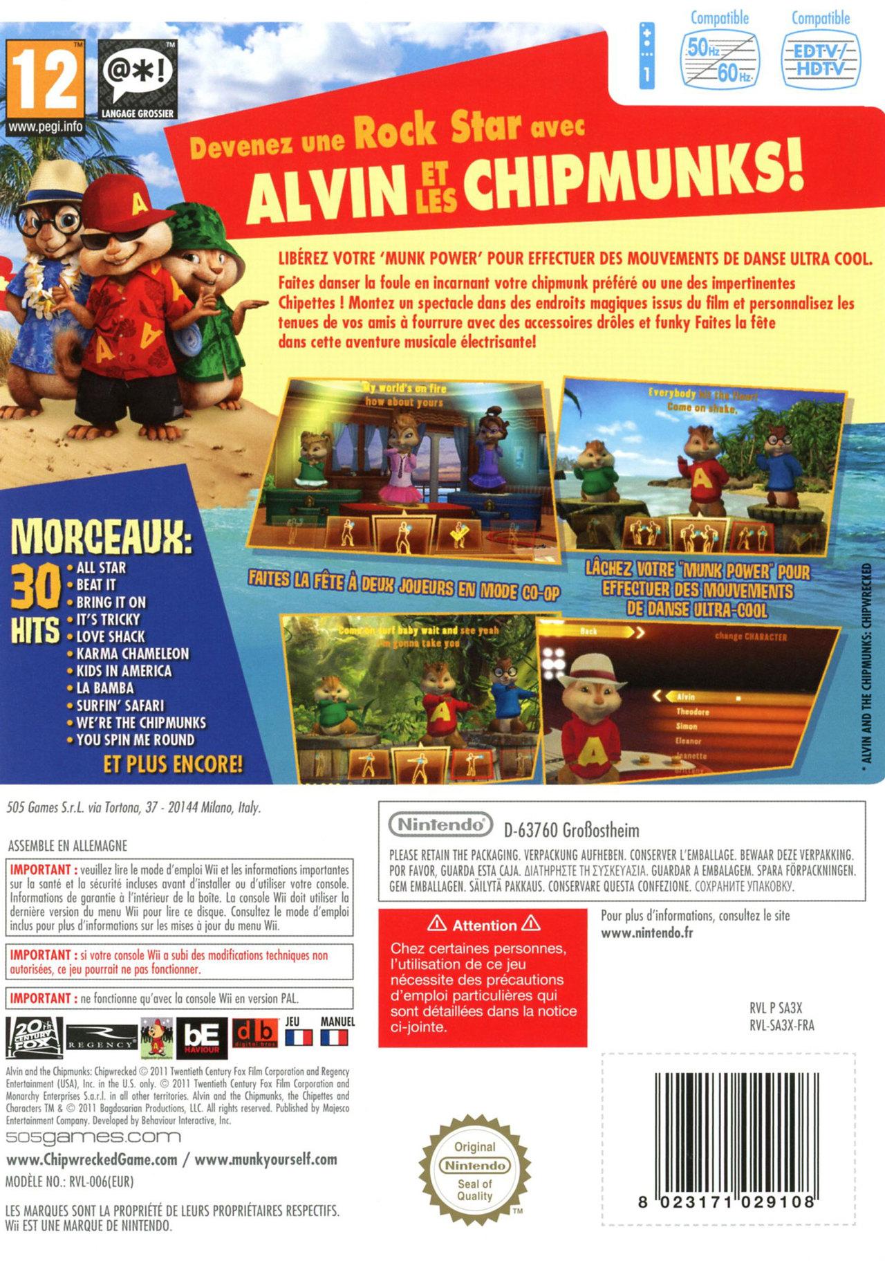 jeuxvideo.com Alvin et les Chipmunks 3 - Wii Image 2 sur 88