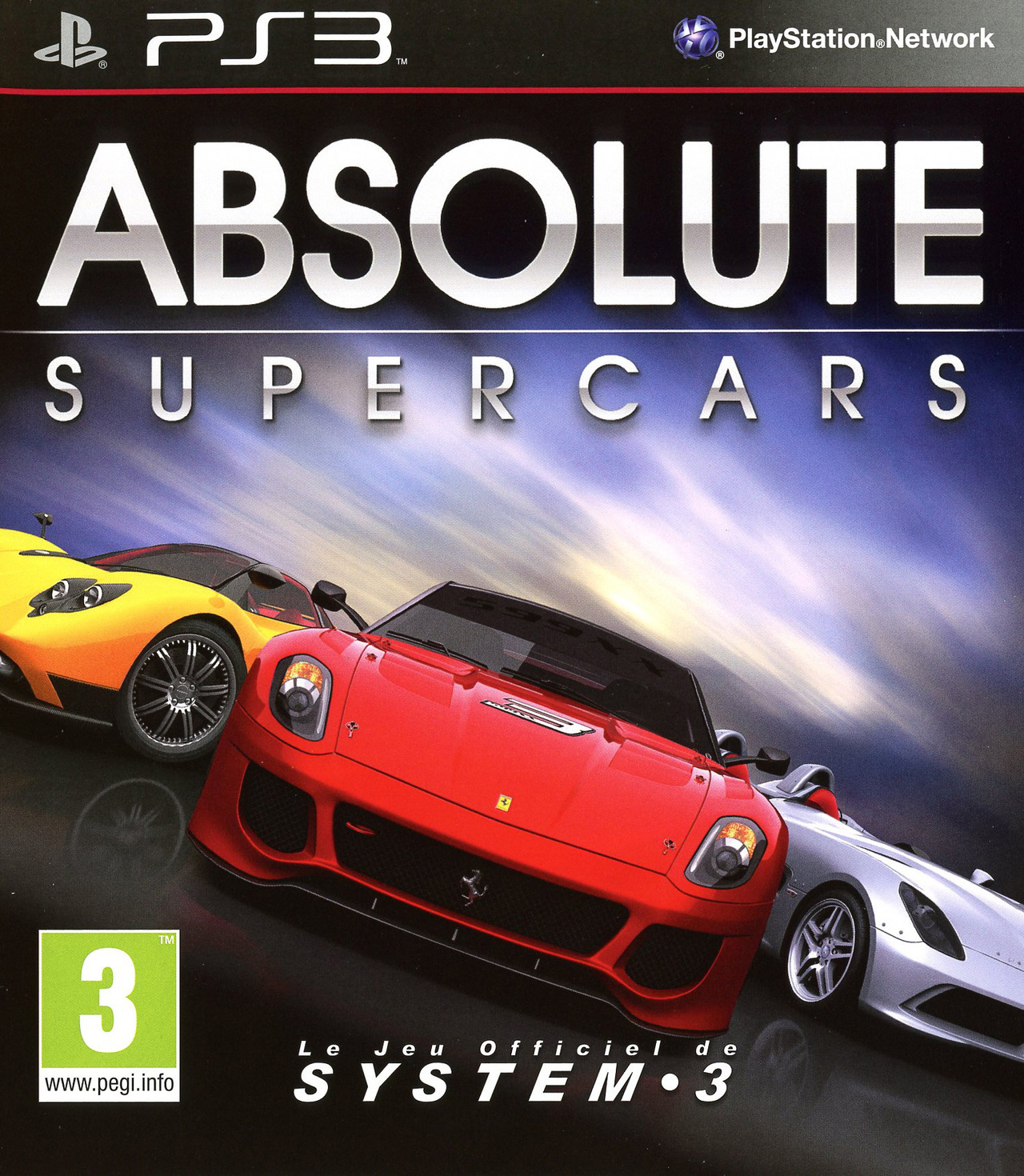 absolute supercars sur playstation 3. Black Bedroom Furniture Sets. Home Design Ideas