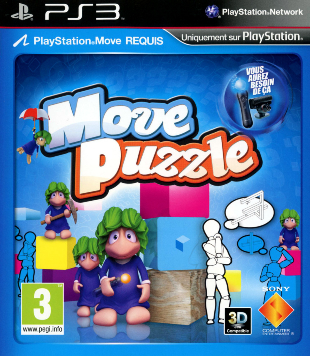 move puzzle sur playstation 3. Black Bedroom Furniture Sets. Home Design Ideas