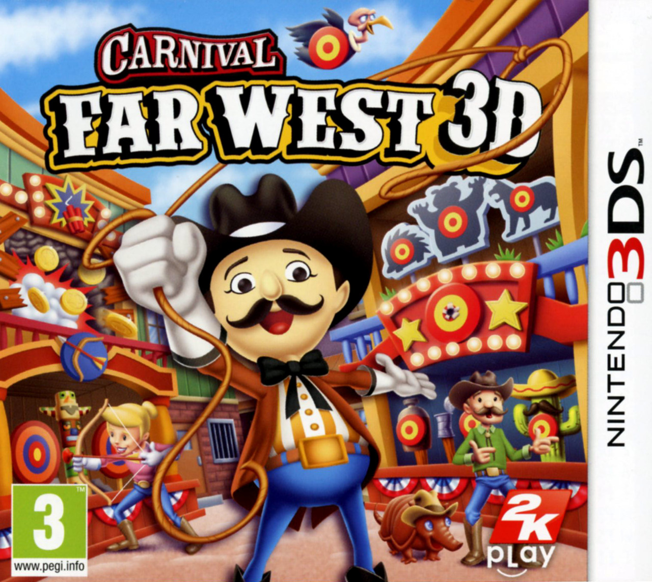 carnival far west 3d sur nintendo 3ds. Black Bedroom Furniture Sets. Home Design Ideas