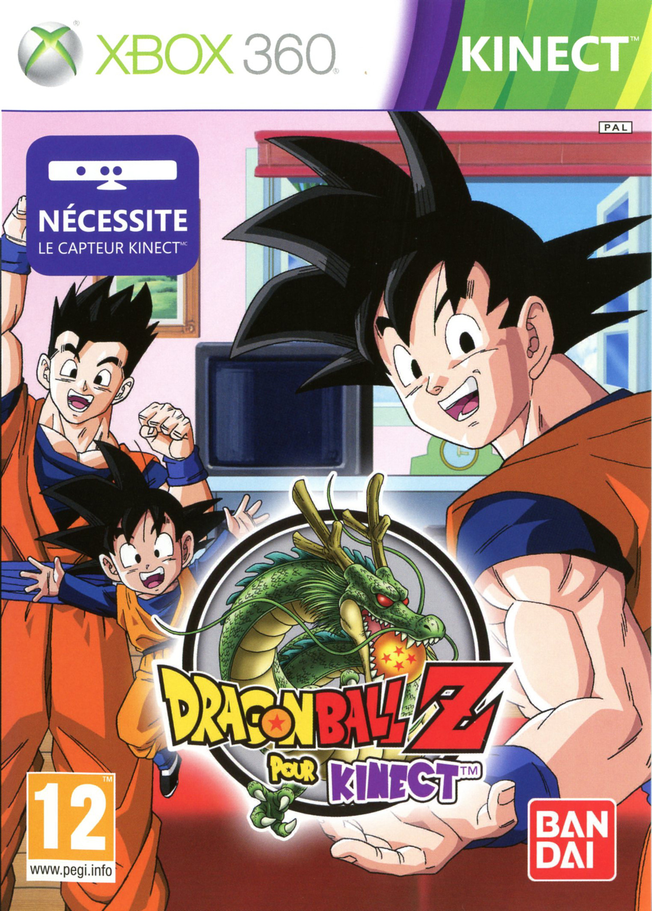 Achat dragon ball z for kinect sur 360 for Chambre dragon ball z