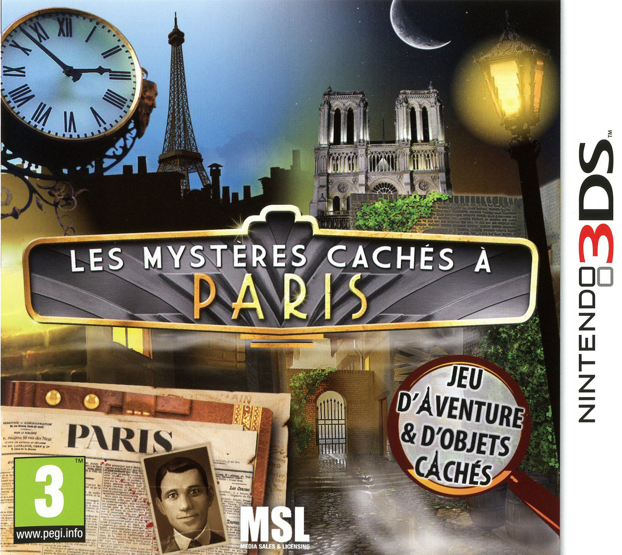 les myst res cach s paris sur nintendo 3ds. Black Bedroom Furniture Sets. Home Design Ideas