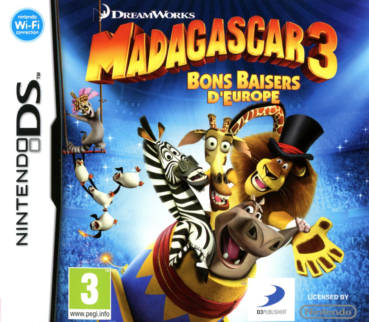 madagascar 3 bons baisers d 39 europe sur nintendo ds. Black Bedroom Furniture Sets. Home Design Ideas