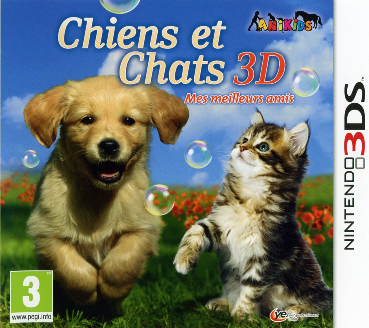 Chiens et chats 3d mes meilleurs amis sur nintendo 3ds for Meilleur 3d