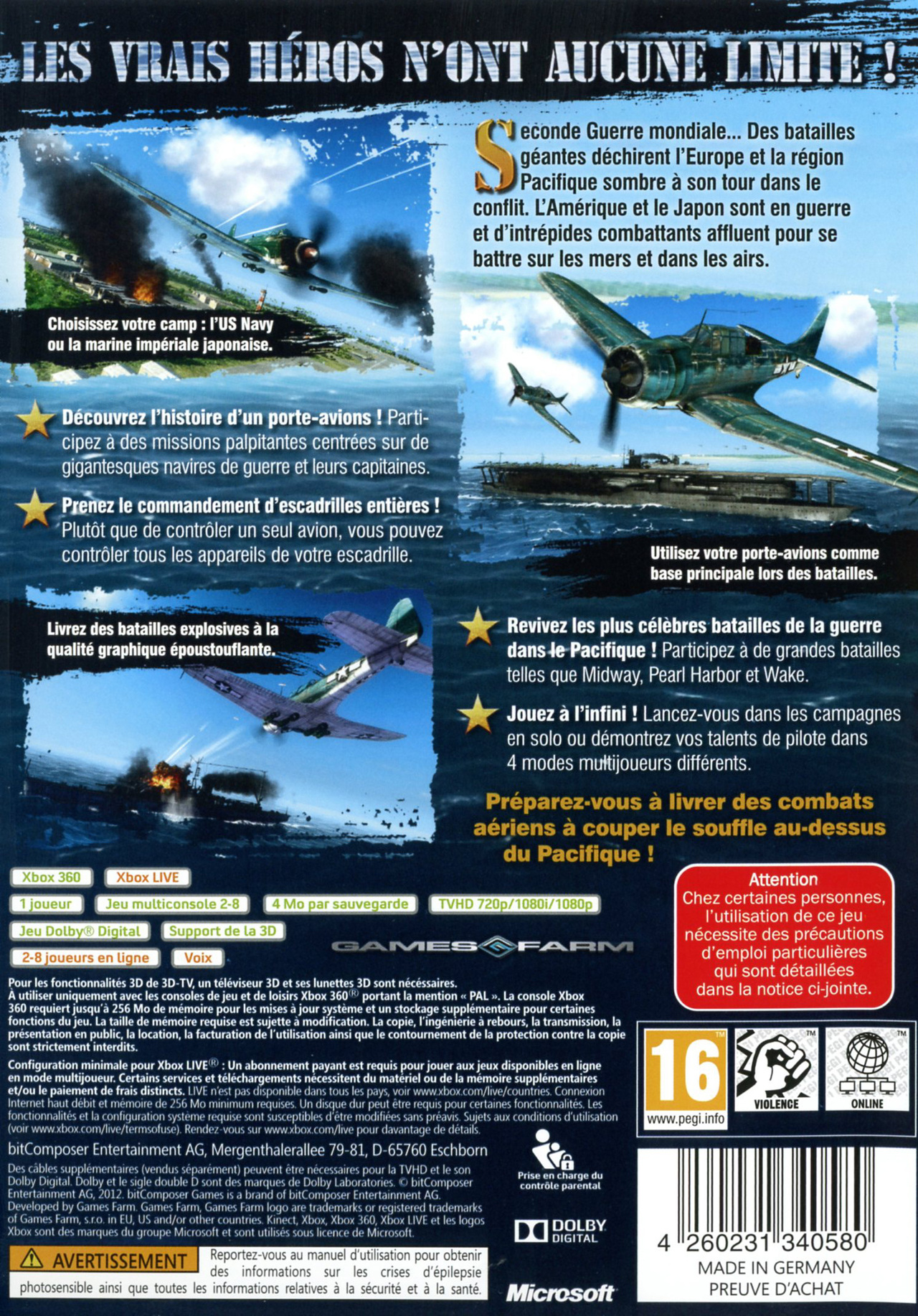 Images Air Conflicts : Pacific Carriers Xbox 360 - 2