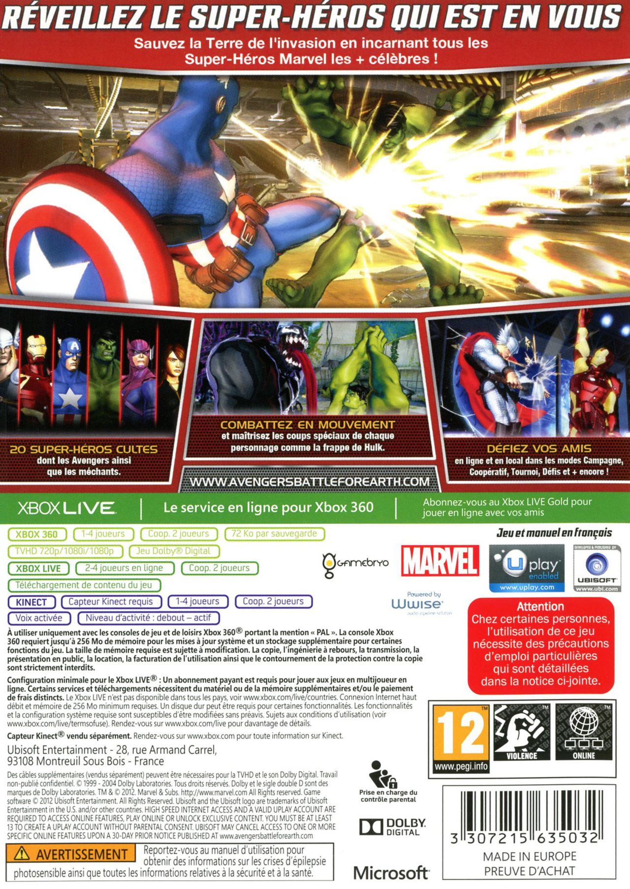 jeuxvideo.com Marvel Avengers : Battle for Earth - Xbox 360 Image 2