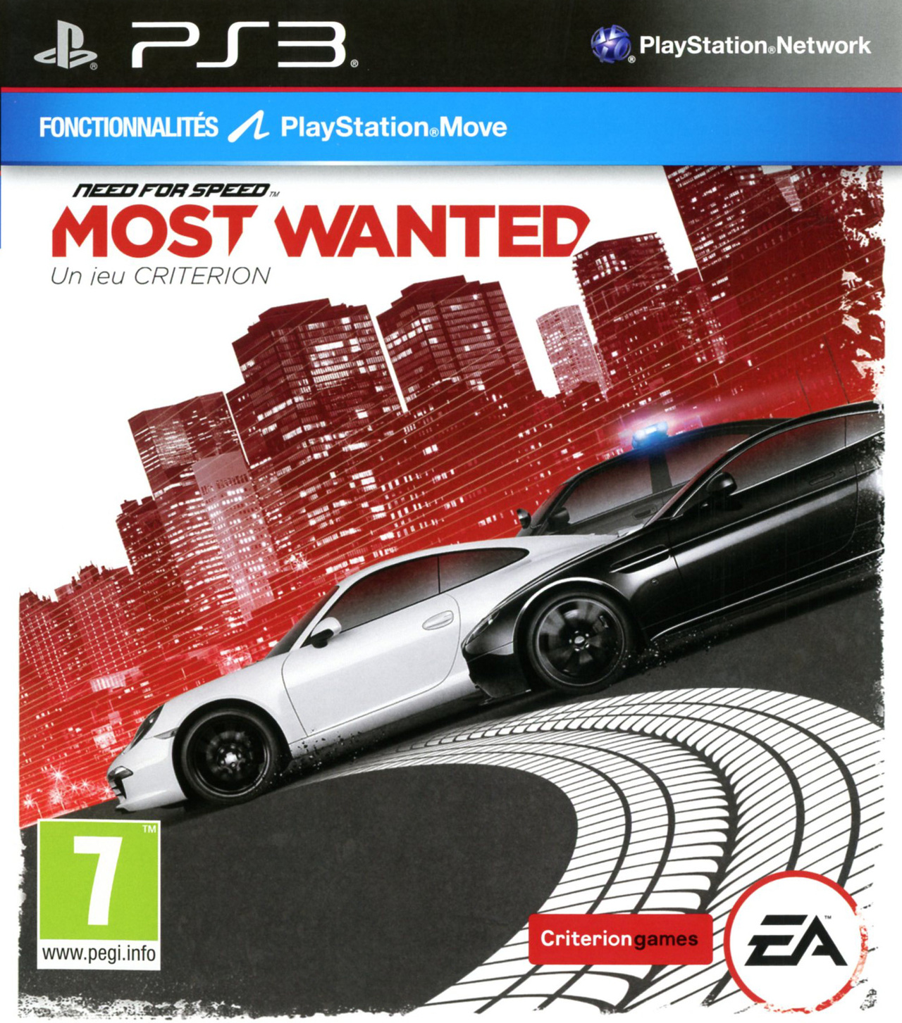 need for speed most wanted sur playstation 3. Black Bedroom Furniture Sets. Home Design Ideas