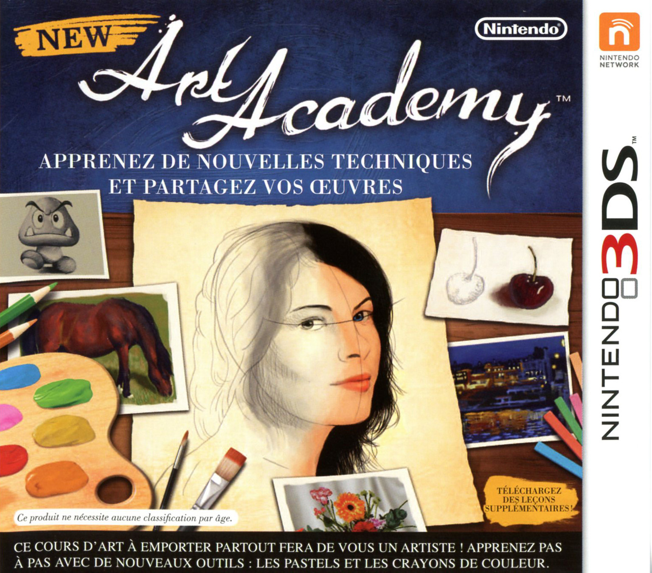 new art academy sur nintendo 3ds. Black Bedroom Furniture Sets. Home Design Ideas