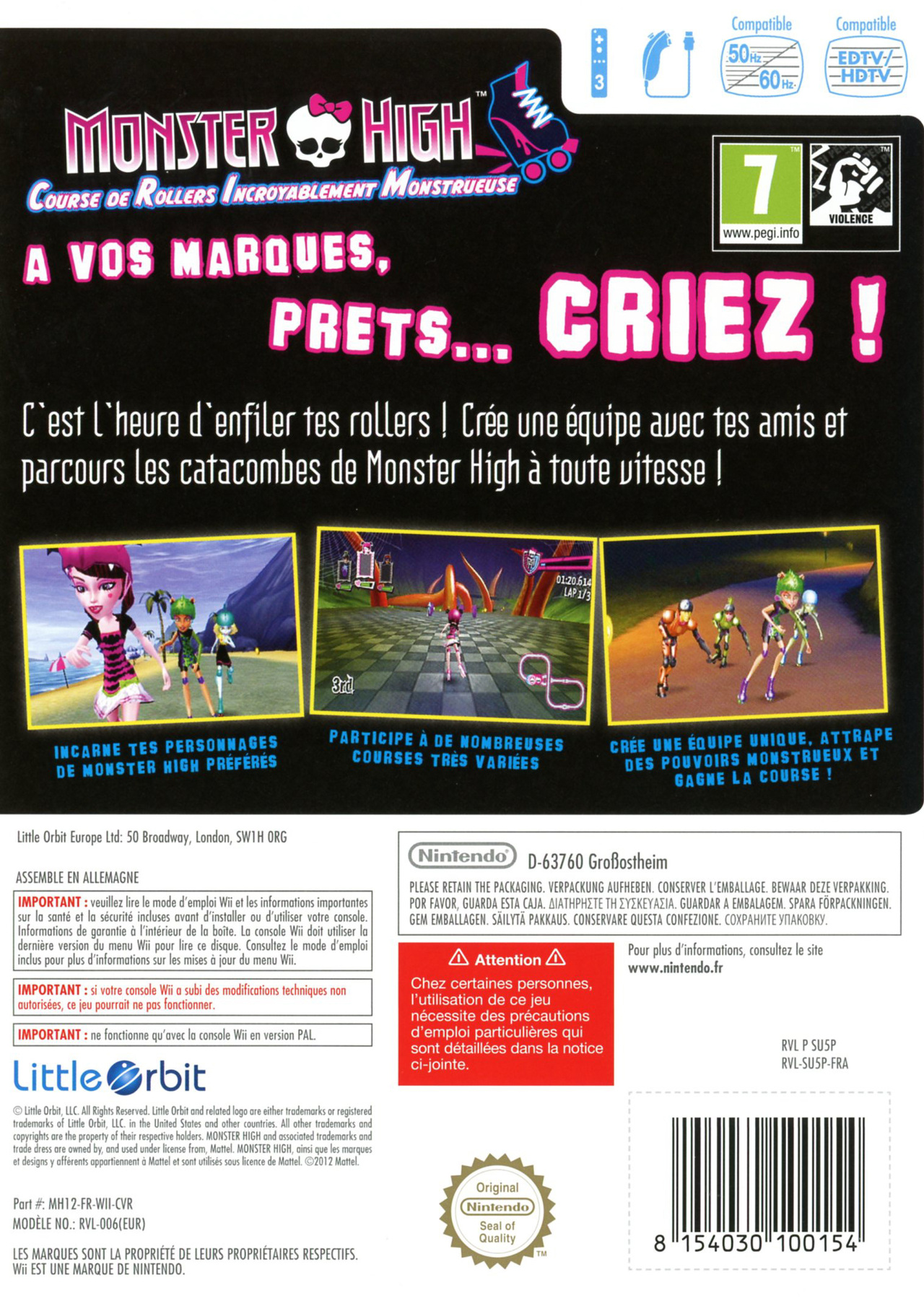 Images Monster High : Course de Rollers Incroyablement Monstrueuse Wii - 2