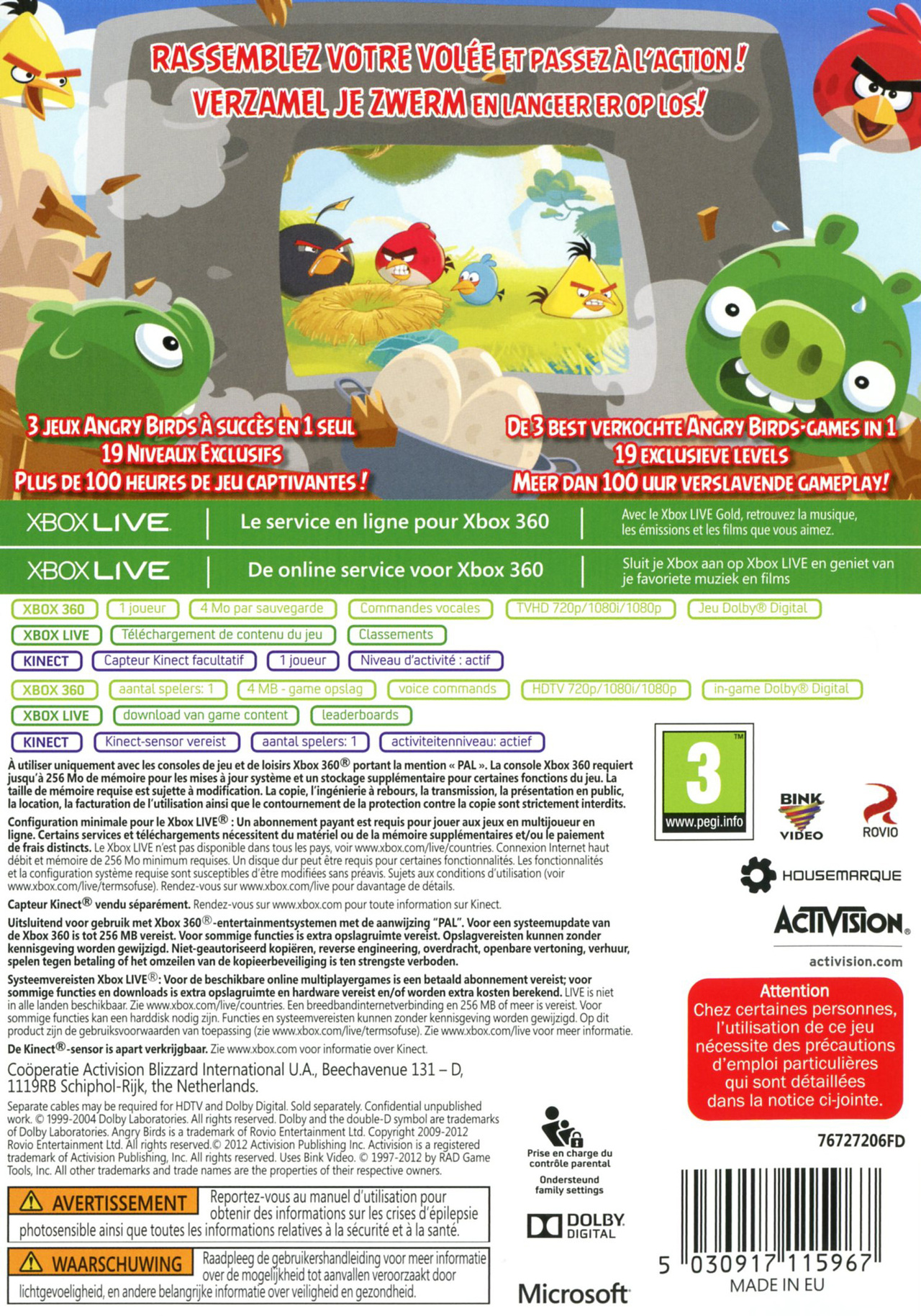 jeuxvideo.com Angry Birds Trilogy - Xbox 360 Image 2 sur 32
