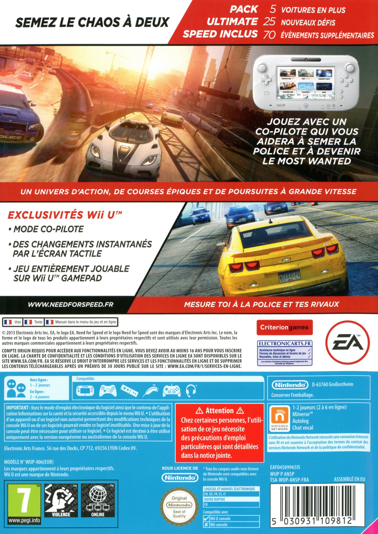 jeuxvideo.com Need for Speed : Most Wanted U - Wii U Image 2 sur 48