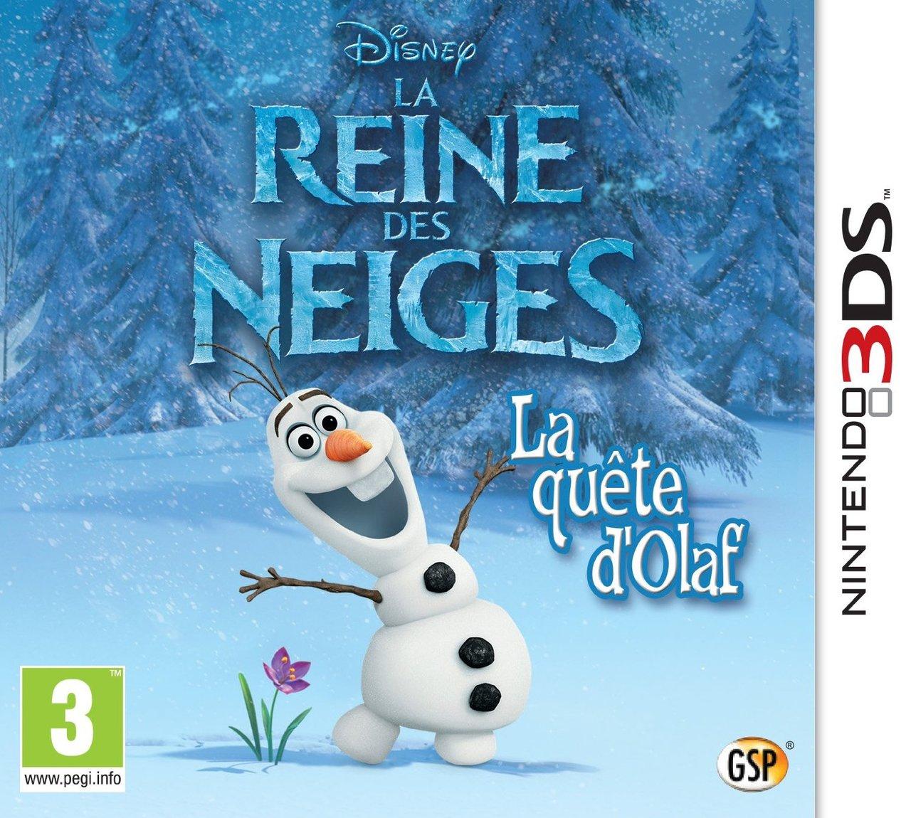 La reine des neiges la qu te d 39 olaf sur nintendo 3ds - Jeux gratuits de reine des neige ...