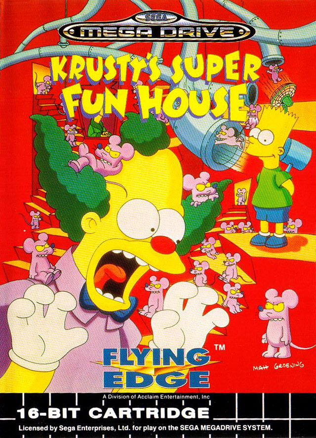 Super Fun Nail Art Ideas 2012: Krusty's Super Fun House Sur Megadrive