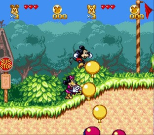 Test The Great Circus Mystery starring Mickey and Minnie Mouse Megadrive - Screenshot 2