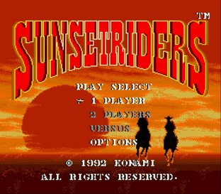 Test Sunset Riders Megadrive - Screenshot 1
