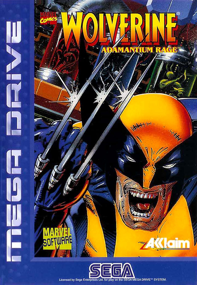 wolverine adamantium rage sur megadrive. Black Bedroom Furniture Sets. Home Design Ideas