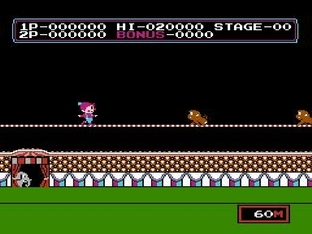 Test Circus Charlie Nes - Screenshot 1