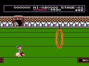 Test Circus Charlie Nes - Screenshot 2